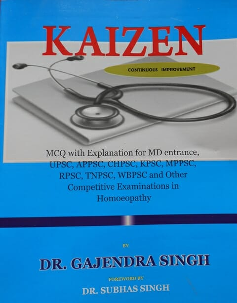 """""""KAIZEN"""" new book for UPSC, PSC, MD(Hom) preparation"""