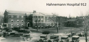 The building of Hahnemann Hospital in 1912