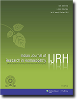 Free Subscription to Indian Journal of Research in Homoeopathy by CCRH